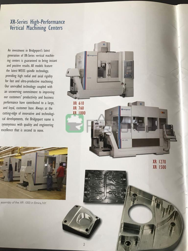 Bridgeport HARDINGE XR 1000 vertical milling center (19)