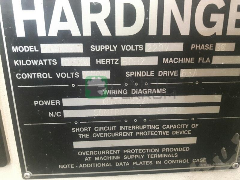 HARDINGE VMC 1000 II cnc vertical machining center (2)